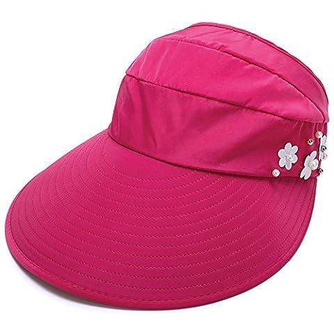 Les femmes Protection UV Sun Hat Cap Visor condensable large