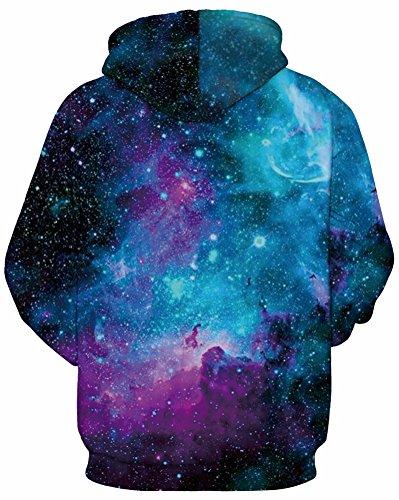 Leslady Kapuzenpullover Sweatshirts 3D Digital Hoodies Print Muster Unisex Sport für Frauen 135