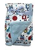 E&A Distribution Limited Couverture de luxe en molleton doux Motif jungle 75x 100cm Pour les bébés et nouveau-nés