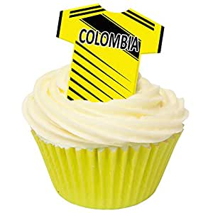 Pack of 12 Edible Wafer Decorations - Columbia Football Shirts 201-431