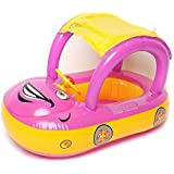 Inflatable Swimming Float Boat With Sunshade Seat With Horn For Toddlers, Pool Toys For Kids