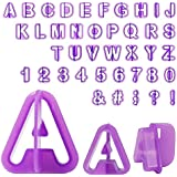 INT. Rend Fondant Cutter Set–40Pieces Punctuation Letters and Numbers for Professional Cake Decorating | Baking Cake Decoration Fondant Cake Cookie Cutters Set