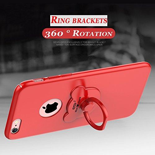 iphone 6 Plus,iphone 6S Plus Housses et étuis,PC Matière avec [Ultra Mince] [Ultra Léger] Anti-Rayures Anti-dérapante Case Coque Housse Bumper Cover pour iphone 6 Plus /6S Plus,+ 360° drehbarer Ringha F