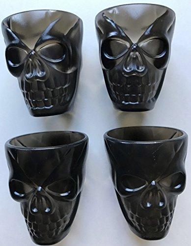 4Schwarz Kunststoff Totenkopf Toll für einzigartige Halloween Schnapsgläser und Partys (Marketing-ideen Für Halloween)