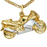 JOBO Anhänger Motorrad 333 Gold Gelbgold teilrhodiniert