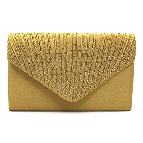 Highdas frizione della busta borsa a tracolla moda donna Cluthes C3 Oro