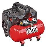 FINI SILTEK S/6 Compressore Silenzioso 2 Manometri (59 Db), 750 W, 230 V, Rosso