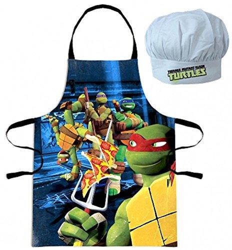 Turtles Küchen-Set Characters Teenage Mutant Ninja Turtles Kinder Kochset Küche Kochschürze + Kochmütze