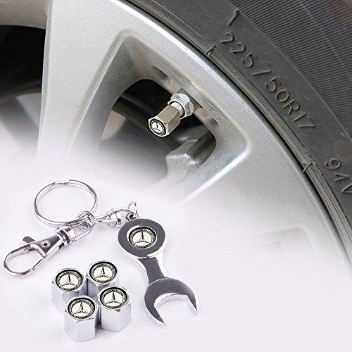 100% qualità scarpe da corsa Super sconto Coprivalvola Pneumatici Mercedes-Benz logo Tappi Valvola in Alluminio Auto  Tappi Antipolvere di Pneumatici Ruota Stelo Valvola Cappucci delle Valvole