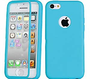 MEILISHO® Iphone TPU Coque Housse Case Protection pour Iphone 5C (Bleu)