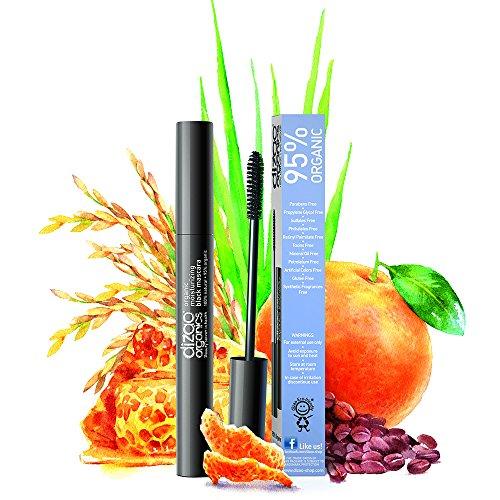 Beste Wimperntusche Empfindliche Augen (Dizao 95% Organische Feuchtigkeitsspendende Schwarze Mascara mit dem Organischen Extrakt von Reiskleie und Kaffeebohnen)
