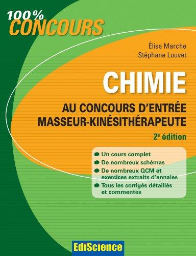 Chimie au concours d'entre Masseur-Kinsithrapeute - 2e d.