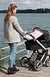 Dooky Sonnenschutz für Kinderwagen Design Baby Pink With Pink Stars