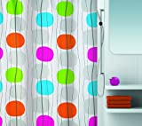 Spirella 10.16732 Textil-Duschvorhang Mobile Multicolor, 180 x 200 cm