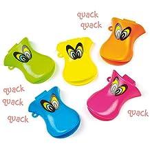 Silbatos con Forma de Pato para Niños. Pequeños Juguetes Perfectos como Relleno de Piñata Divertidos Premios y Regalos de Fiestas Infantiles (Pack de 6)