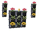 Siva Homes & Naturals Vertical Garden Bio Wall Hanging Planter Black Color(4 Frames + 12 Pots) (Black)