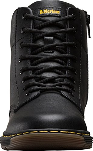 Dr Martens Malky Black Leather Youth Ankle Boots Black