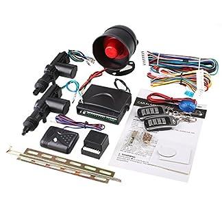 Sedeta-Auto-Sicherheit-Alarm-2-Trsteuerung-Zentralverriegelung-Schlieer-Set-mit-Stosensor-Wegfahrsperre