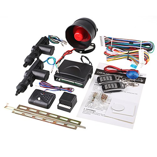 Sedeta® Auto-Sicherheit Alarm 2 Türsteuerung Zentralverriegelung Schließer Set mit Stoßsensor Wegfahrsperre Alarm Auto