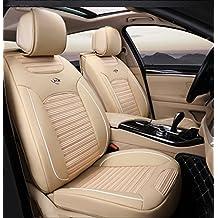 Cubiertas de asiento de coche Cubiertas de asiento de cuero artificial de la materia textil para las fundas de asiento de la parte posterior delantera auto universal para Hyundai