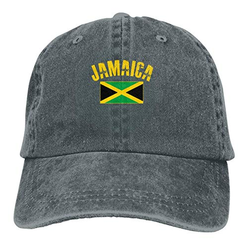 GiveUCap Adult Baseball Caps Hüte Jamaican Flag 1 Dad Denim Hats Washed Baseball Caps Adjustable for Men Women (Hüte Jamaican)