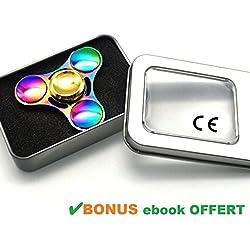 TRUST Me Hand Spinner Metal Multicolore - Fidget Toy en alliage de Zinc arc en ciel - anti stress - Amazon Premium