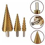 Set di punte coniche per trapano in acciaio HSS, misure: 4-12/20/32 mm by DELIAWINTERFEL