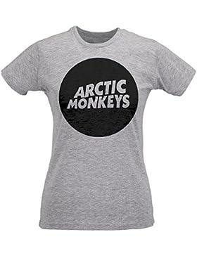 Camiseta Mujer Slim Arctic Monkeys Circle Logo - Maglietta 100% algodòn ring spun LaMAGLIERIA