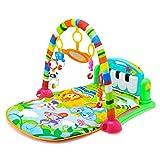 Musikalische Spieldecke Baby, Leting Baby-Klavier-erweckende Matte, Surreal 3-in-1-Spielmatte für Babys mit Baby-Klavier, Spielmöglichkeiten, Musik und Beleuchtung