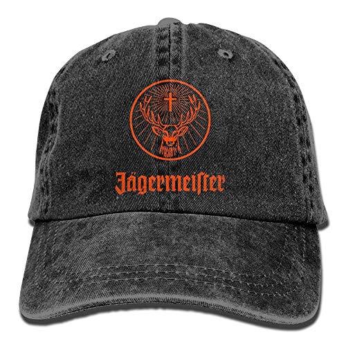 92d59bddc7dea Wfispiy Jagermeister Adult Hats Unisex Fashion Plain Cool Adjustable Denim  Jeans Baseball Cap Cowboy 010717