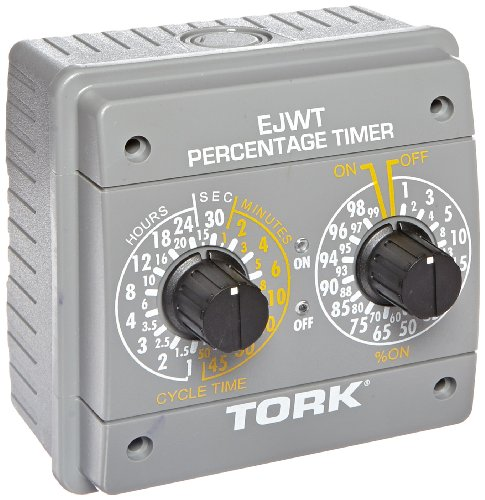 EJWT Series Percentage Timer Switch, 120-240VAC Input Supply 60 Hz, SPDT Output Contact by