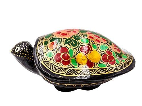 Dose Schildkröte aus Pappmaché - bunt bemalt - Fair Trade (Variante 1)