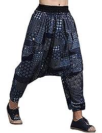 963961b242 MAFANBUYI Pantalones Bombachos Cagados Hombre Mujer Unisex para Yoga Cómodo  Pantalón Cagados Ancho Harem Pants con