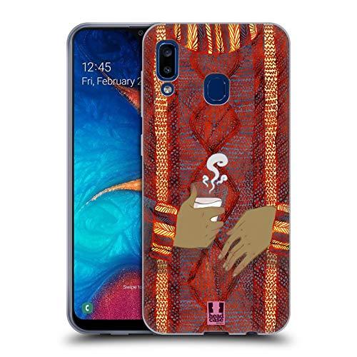 Head Case Designs Kokos Tasse Gestricktes Pullover-Muster Soft Gel Huelle kompatibel mit Samsung Galaxy A20 / A30 (2019)