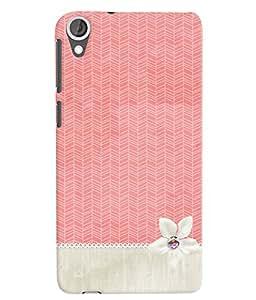 Citydreamz Cute Pink Design Hard Polycarbonate Designer Back Case Cover For HTC Desire 728