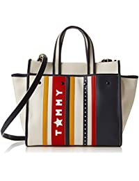 Tommy Hilfiger Heritage Tote Stars & Stripes, Women'S Tote, Off-White - Stars Stripes, 18X30X38 Cm - B X H T