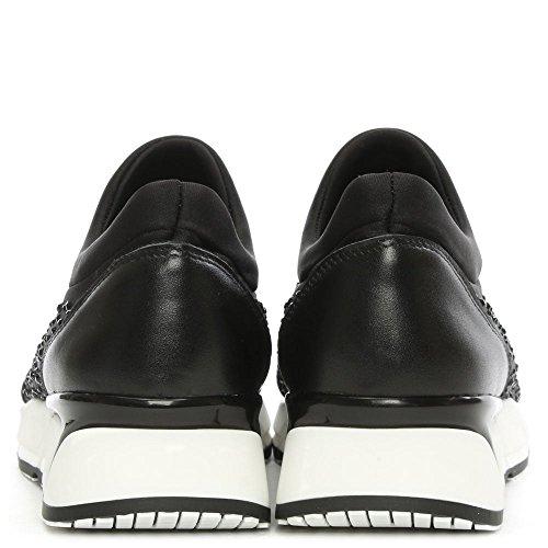 Daniel Pearlblush Slip Noir Diamante Formateur Black Fabric