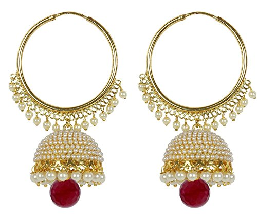 963f211e23991 Best Valentine Gifts : YouBella Jewellery Traditional Gold Plated Fancy  Party Wear Jhumka / Jhumki Earrings for Girls and Women