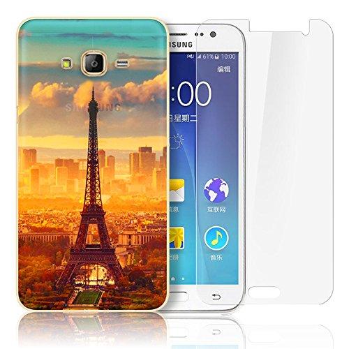 Samsung Galaxy J500 Cover,Samsung Galaxy J5(2015) Custodia , Paesaggio Scenario Ultra Sottile PC Opaco trasparente Back Protettiva Case + 1x Protezione Dello Schermo Screen Protector - Mountain 02 model 11