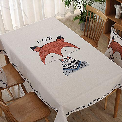 QWDF Ethnische gedruckte Baumwolle und Leinen Stil rechteckige Tischdecke Tischdecke Tischdecke Abdeckung Handtuch -