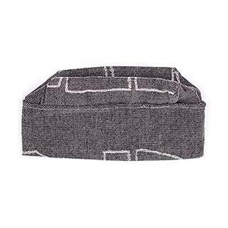 Sauna hat, linen - black, L (60 cm) (Alajärven Kotitekstiili, Finland)