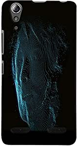 PrintVisa 3D-LA6000-D7635 Abstract Man Face Case Cover for Lenovo A6000