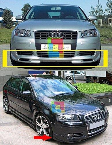 Audi A3 8P 2003-2008 Spoiler Anteriore Design S3 SLINE Tuning sotto PARAURTI