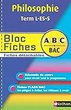 BLOC FICHES ABC PHILO L ES S