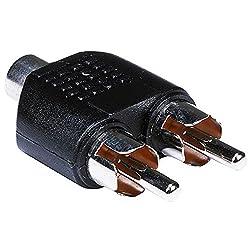 CLASSYTEK 1 RCA Female to 2 RCA Male Connector/Adapter/Converter