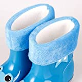 WOSOSYEYO Botas de Lluvia Antideslizantes para niños, niños, bebés, bebés, Botas de Lluvia, Goma de Dibujos Animados, Botas Calientes a Prueba de Agua, Zapatos para niños, niñas