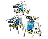 AdaraXx Gifts and Arts 14 in 1 Educational Solar Robot Kit, Multi Color