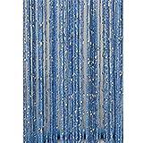 Quaste, Raumteiler, für Fenster, mit Quasten aus Silber, stark, für Tür oder Fenster, Fliegengitter, 1x 1m, 16Farben) Free Size #8
