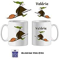 Texti-cadeaux-Mug Sorcière-personnalisé avec un prénom exemple Valérie