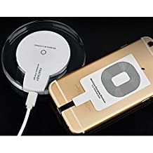 CORST® inalámbrica Qi Qi Ladestation Induktive cargador auriculares Charger Pad Charging Dock Station con receptores de Apple iPhone 5/5s/iPhone 6S/6/6S plus(blanco)